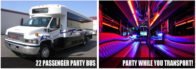 airport transportation party bus rentals reno